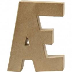 Bogstav Æ. H:20,5 cm. 1 stk. Papmaché