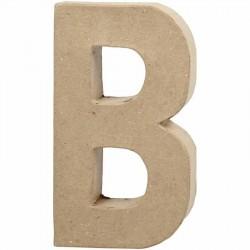 Bogstav B. H:20,5 cm. 1 stk. Papmaché