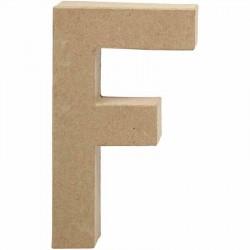Bogstav F. H:20,5 cm. 1 stk. Papmaché