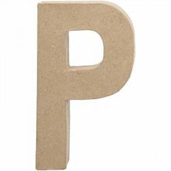Bogstav P. H:20,5 cm. 1 stk. Papmaché