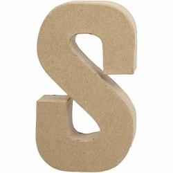 Bogstav S. H:20,3 cm. 1 stk. Papmaché