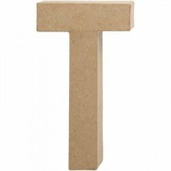 Bogstav T. H:20,5 cm. 1 stk. Papmaché