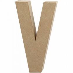 Bogstav V. H:20,5 cm. 1 stk. Papmaché