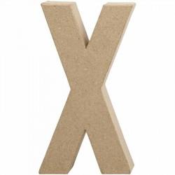 Bogstav X. H:20,2 cm. 1 stk. Papmaché