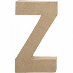 Bogstav Z. H:20,2 cm. 1 stk. Papmaché