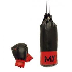 Boksesæk med handsker - 1kg
