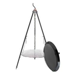 Bon-fire bålsæt 140 cm med stor BBQ pande