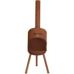 BONFEU Bonbono R udepejs - rust stål, inkl. grill tilbehør (H:124 cm)