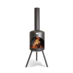 BONFEU Bonselo BIP udepejs - sort stål, inkl. grillrist (H:148 cm)