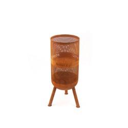 BONFEU BonVes brændekurv med mulighed for grillrist - rust metal, rund (ø:34) Uden