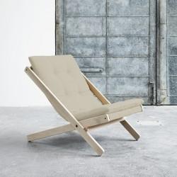 Boogie Lounge stol - Grå/Raw