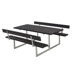 Bord- og bænkesæt med ryglæn - Basic