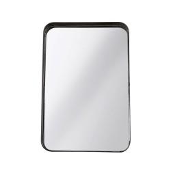 Bord spejl med fod - sort metal