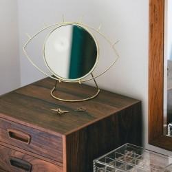 Bordspejl i messing - Cyclops