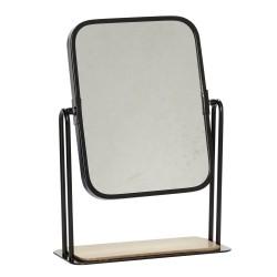 Bordspejl sort metal ramme