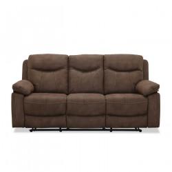 Boston recliner 3 personers Biograf sofa, Brun stof