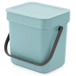 Brabantia affaldsspand - Sort & Go - Mint