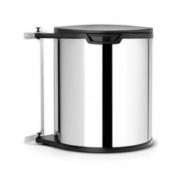 Brabantia Affaldsspand til køkkenskab rund, plastinderspand (inkl fæste) 15 L Blankbørstet Stål
