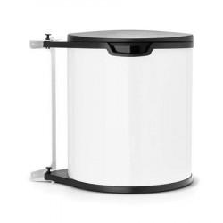 Brabantia Affaldsspand til køkkenskab rund, plastinderspand (inkl fæste) 15 L Hvid