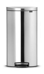 Brabantia Flatback+ Pedalspand Matt Stål 30 L