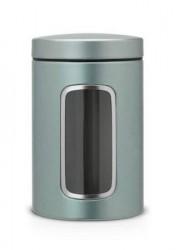 Brabantia Opbevaringsbeholder med vindue 1.4 Ltr Metallic Mint