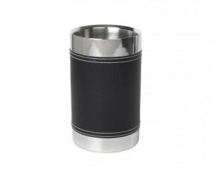Bredemeijer Flaskekøler stål/læder look - 20 cm