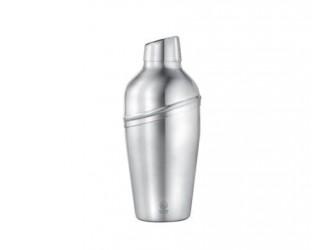 Bredemeijer Shaker med si skævt låg matt stål - 0,5 liter