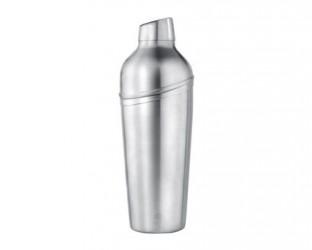 Bredemeijer Shaker med si skævt låg matt stål - 0,7 liter