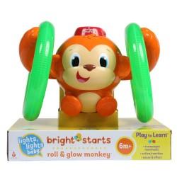 Bright Starts rullende og lysende abe - Roll & Glow Monkey