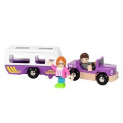 BRIO bil og campingvogn
