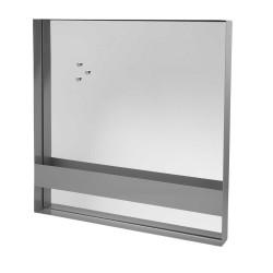 BROSTE COPENHAGEN Arve vægspejl - klar/grå spejlglas/jern, kvadratisk (60x60)