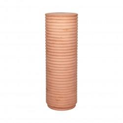 BROSTE COPENHAGEN rund Rillo piedestal - brun fibercement (Ø36)
