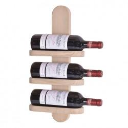 BY TIKA Milano no. 3 vinreol - Olieret egetræ, væghængt, plads til 3 flasker Hvidolieret eg