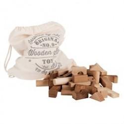 Byggeklodser i træ - Natural - 100 stk