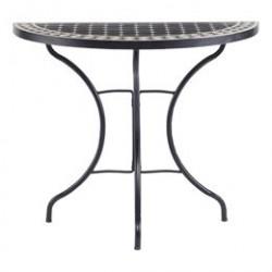 Cafébord - Sort/mosaik