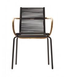 Cane-line - SIDD Spisebordsstol m/armlæn - Taupe