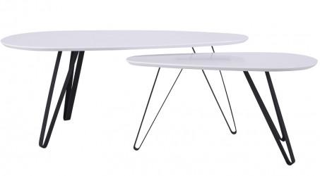 Canett - Jo Sofabord 100x50 cm - Hvid/sort