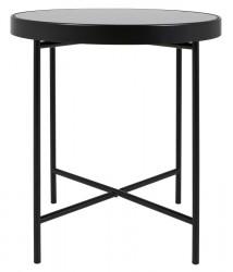 Canett Jo Sofabord - Sort stål og glas - Ø43