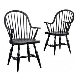 Canett Lincoln Spisebordsstol m. Armlæn - sort