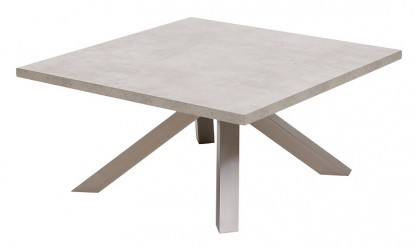 Canett Onyx Sofabord - Grå Betonlook - 90x90