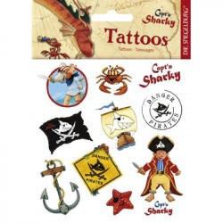 Capt'n Sharky pirat tatoveringer, 12 motiver