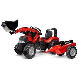CASE IH Puma 240CVX Pedal traktor til børn m/Frontskovl + Trailer