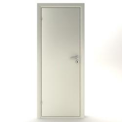 Celledør glat 72,5 x 184 cm. - hvid