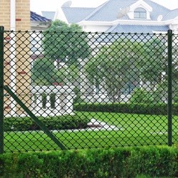 Chain Fence 0.8 x 25 m Green with Posts & All Hardware