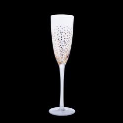 Champagneglas med guldprikker, 6 stk