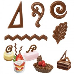 Chokoladeform, dessert pynt