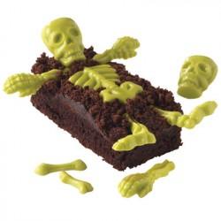 Chokoladeform, skelet dele. Halloween.