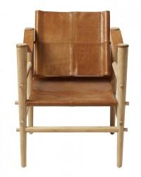 Cinas Noble Safari stol - Brun læder