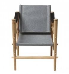Cinas Noble Safari stol - Lys grå filt