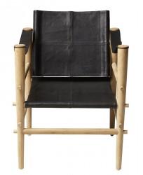 Cinas Noble Safari stol - Sort læder